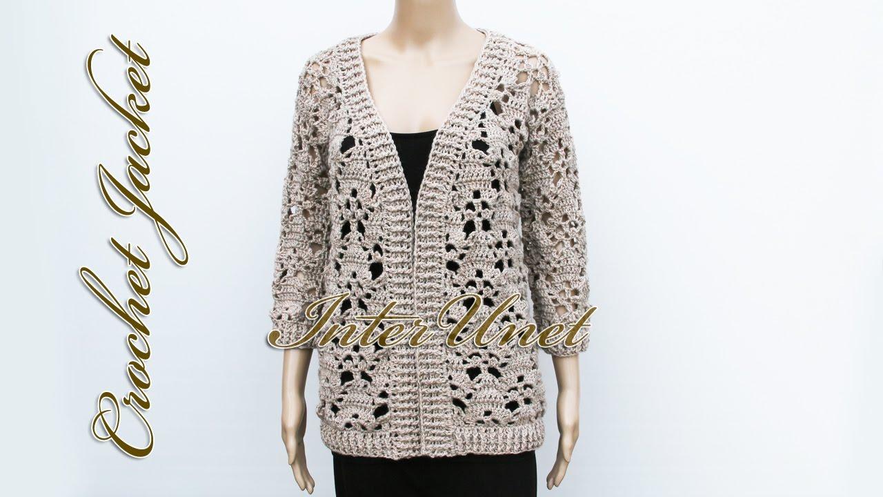 Jacket cardigan crochet pattern - YouTube