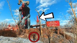 FALLOUT 4 - GIANT DEATHCLAW FOUND!!!