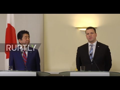 Estonia: Japanese PM Shinzo Abe visits Tallinn as part of European five-day tour