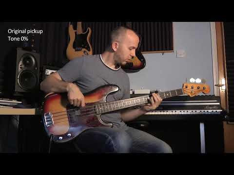 Jules Jackson - P Bass Pickup Comparison - Fender vs SD SPB-1