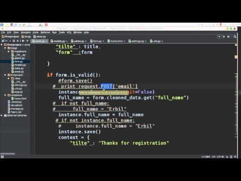 36 Python Web Django DataBase &  server processing behind scenes قواعد البيانات والسيرفر