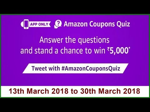 Amazon Coupons Quiz   Answer & Win Rs 5000   All Answers