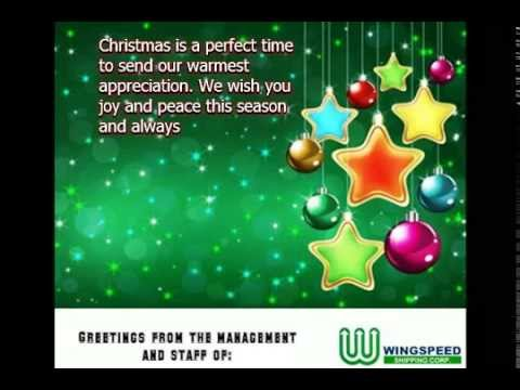 Holiday Greetings from Wingspeed Shipping Corp.