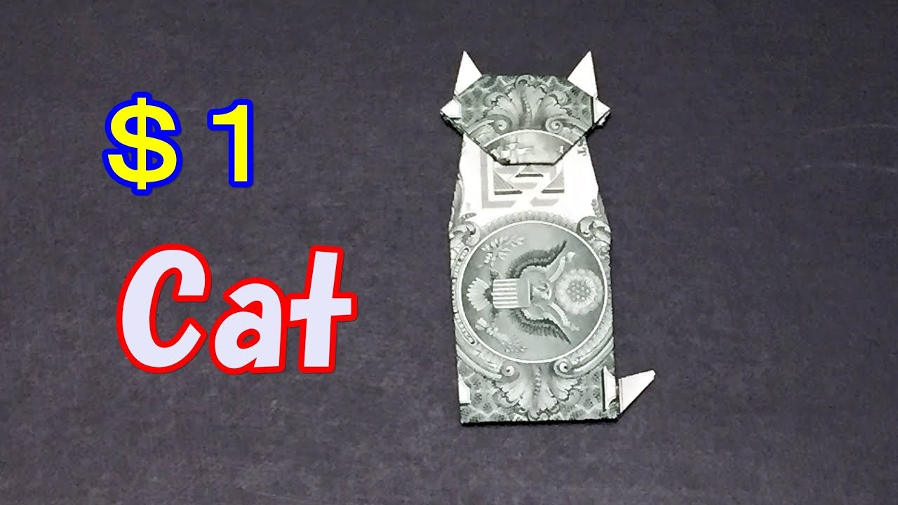 Dollar bill origami cat easy instructions how to fold a cat out dollar bill origami cat easy instructions how to fold a cat out of money jeuxipadfo Image collections