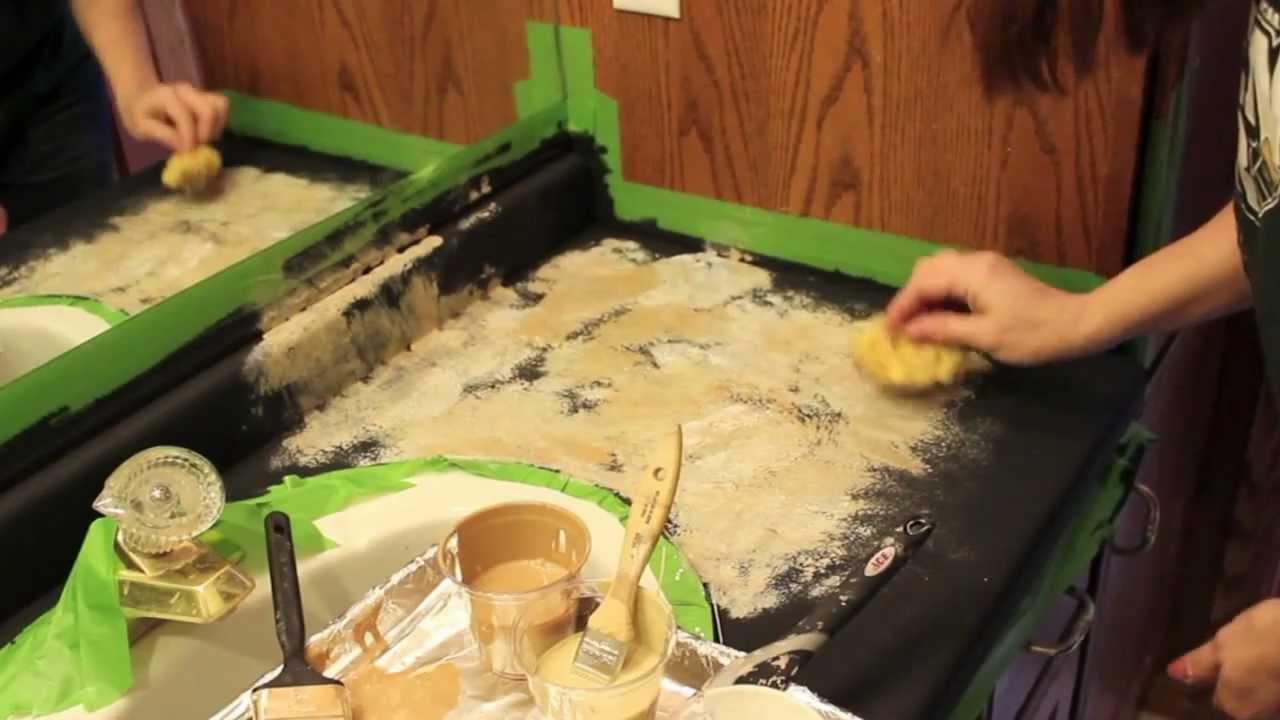 Transforming Painting Countertops Diy Youtube