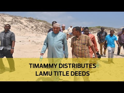 Lamu residents express joy over land titles
