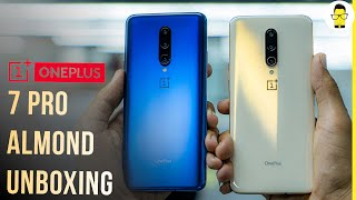OnePlus 7 Pro Almond colour unboxing and first look: don't eat it