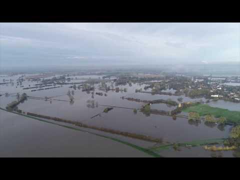 Flooding River Don, Fishlake, Doncaster November 2019