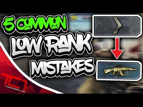 5 Common CS:GO Low Rank Mistakes