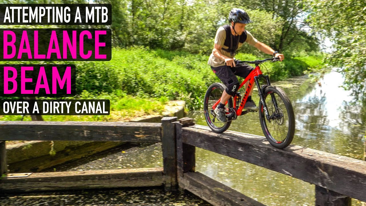 ATTEMPTING A MTB BALANCE BEAM OVER A DIRTY CANAL!!