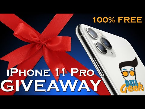 Win Free New iPhone 11 Pro in 5 Easy Steps - DATA GEEK GIVEAWAY (4 Colors)