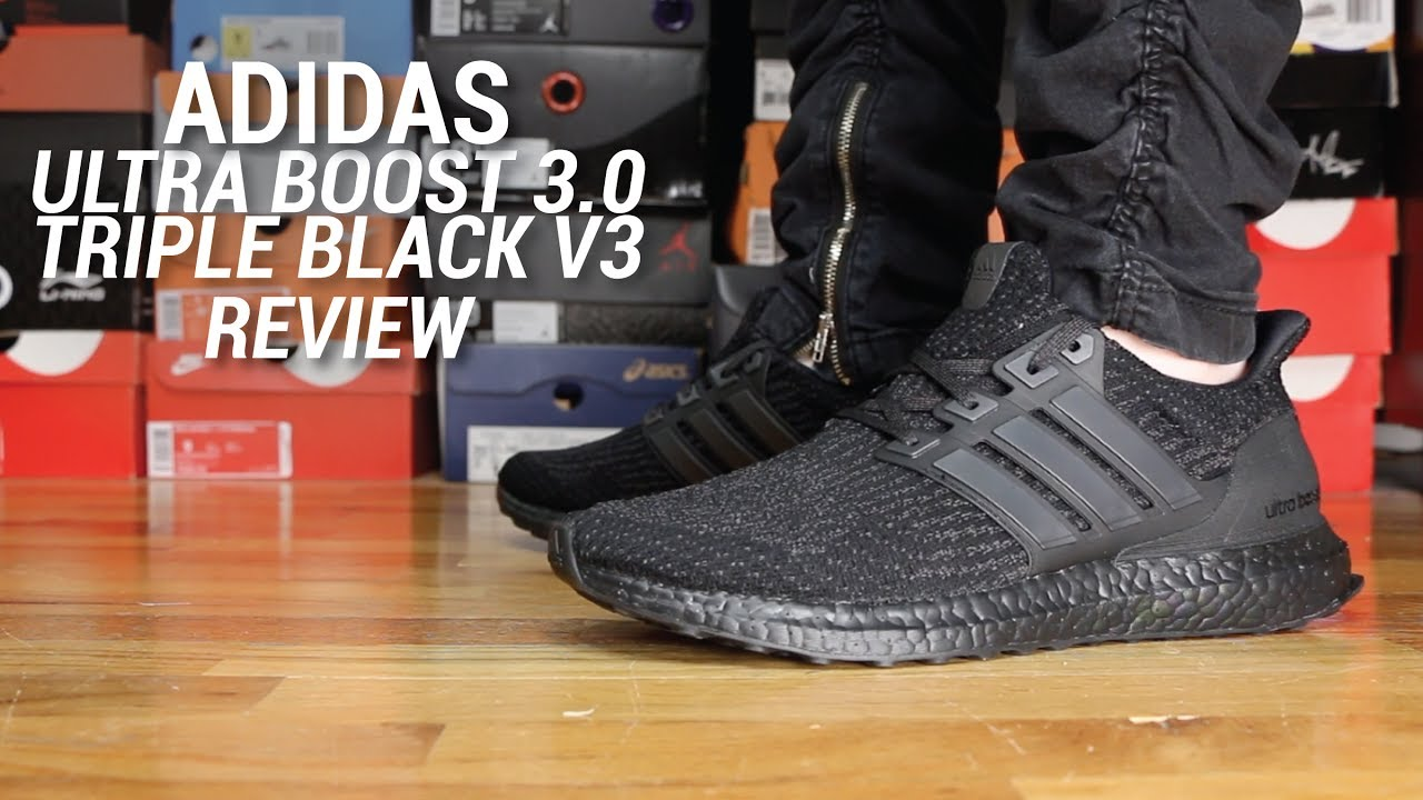 5aac5b0d03575 ADIDAS ULTRABOOST 3.0 TRIPLE BLACK REVIEW - YouTube