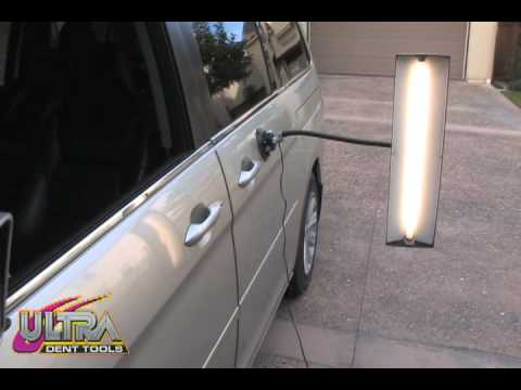 Paintless Dent Repair >> PDR Paintless Dent Repair Light - Ultra Dent Tools - YouTube