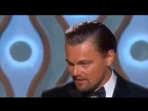 Leonardo DiCaprio WINS Golden Globe Awards 2014 - HD