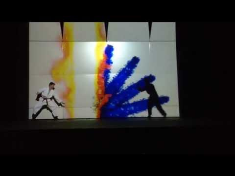 Martial Arts LCD Projector Demo Salem Hills High School Talent Show 2015 (Spliced)