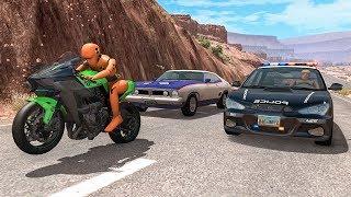 Motorbike Crashes #3 - BeamNG DRIVE | SmashChan