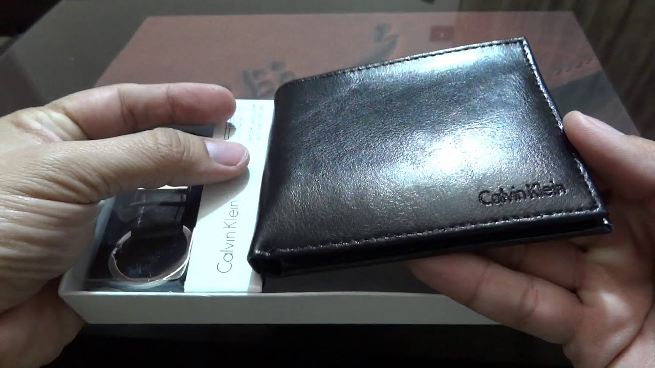 c20dd4f5c Calvin Klein Bifold with Key Fob Wallet for Men Leather Black unboxing