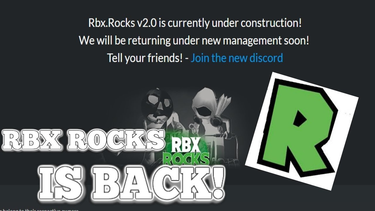 Rbx Rocks Is Coming Back Real Proof Robloxtrading Youtube Rbx.rocks is a site used to help users on roblox.com. rbx rocks is coming back real proof