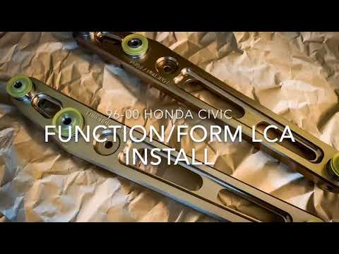 How to install rear lower control arms 96-00 Civic EK