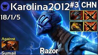 Karolina2012 plays Razor!!! Dota 2 7.20