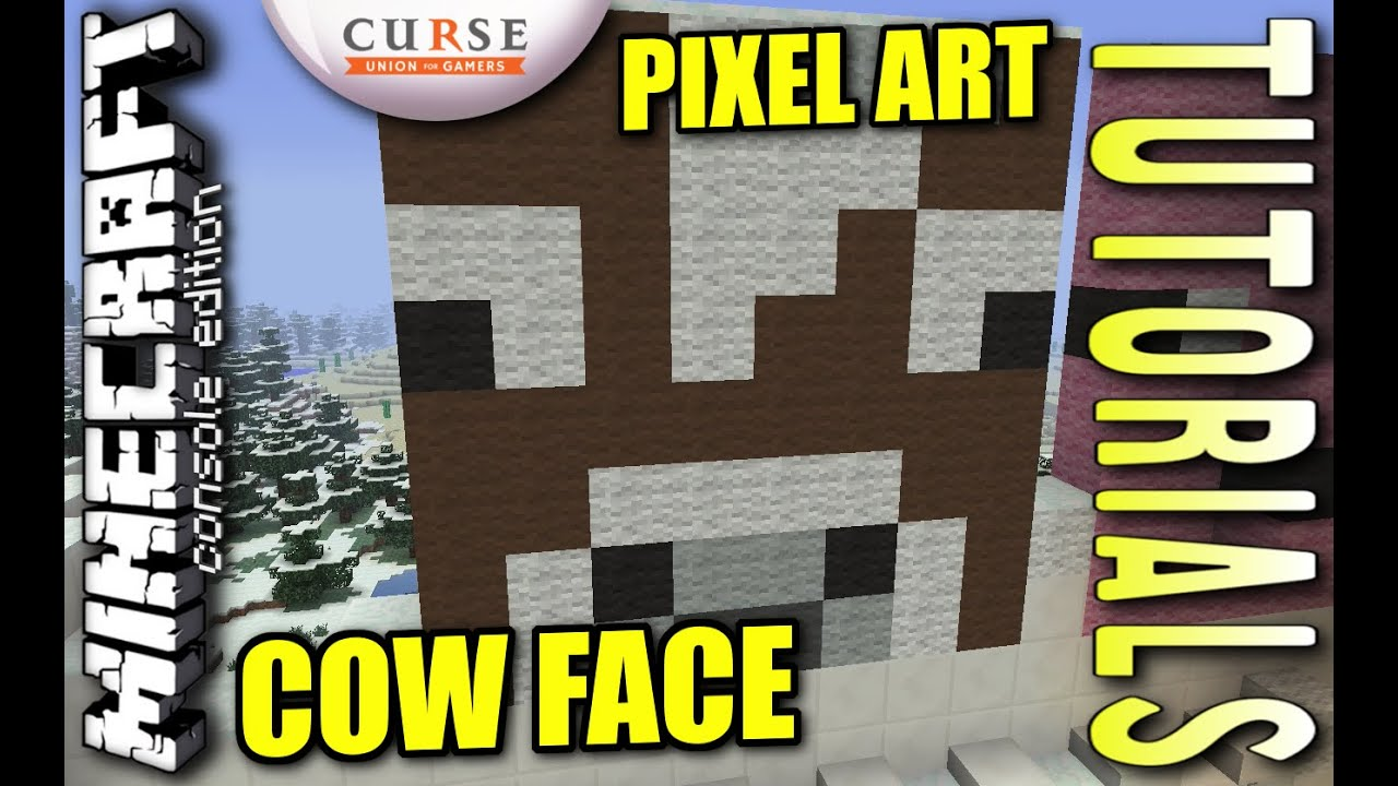 Minecraft Ps4 Cow Face Pixel Art How To Tutorial Ps3 Xbox