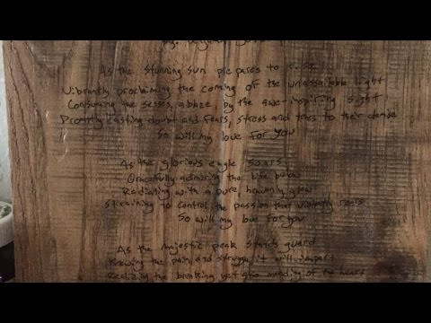 Transfer A Handwritten Note Or Poem Onto Wood - DIY  - Guidecentral