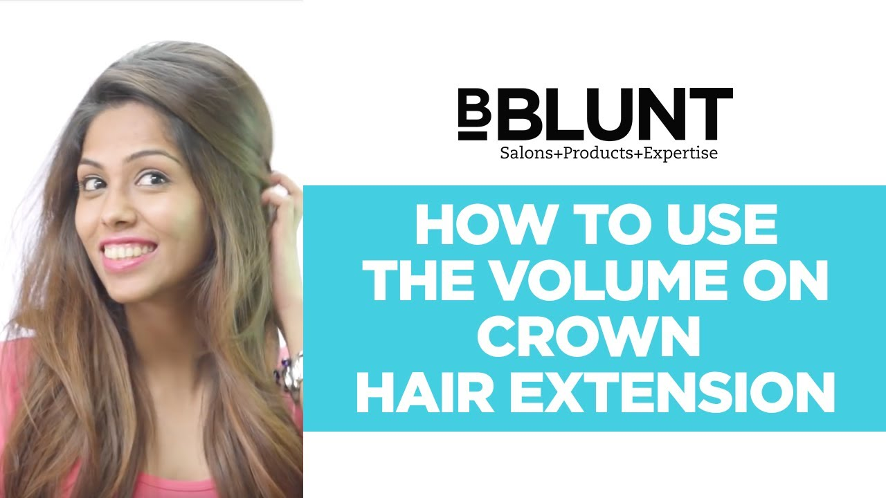 How To Use B Hive Volume On Crown Clip In Hair Extension Youtube