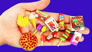 10 EASY DIY MINIATURE FOOD REALISTIC HACKS AND CRAFTS FOR BARBIE