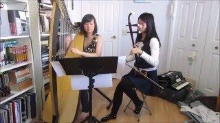 Studio Ghibli Music Medley (Castle in the Sky/Totoro) ~ Harp u0026 Erhu Duet