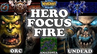 Grubby   Warcraft 3 TFT   1.29   ORC v UD on Amazonia - Hero Focus Fire