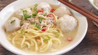 SUPER YUMMY Singapore Teochew Homemade Fishball Noodle Soup Recipe 潮州鱼圆面汤