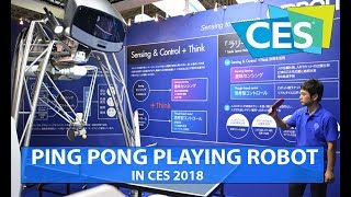 Ping pong playing robot from Omron at CES 2018