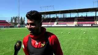 Hosam Aiesh inför matchen mot IFK Göteborg