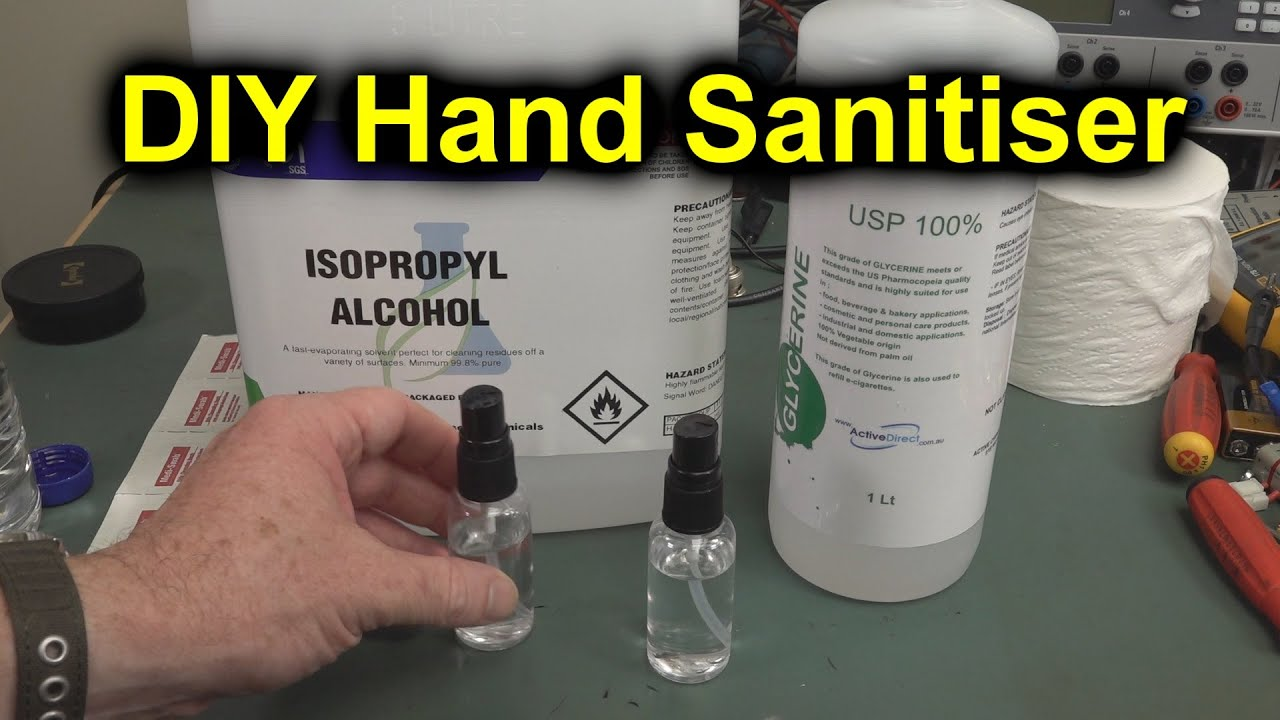 Pro Tip Diy Hand Sanitiser Youtube