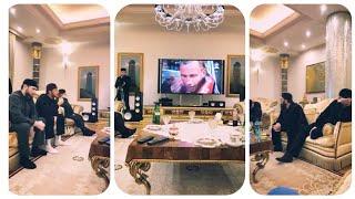 Рамзан Кадыров смотрит бокс с Артуром Бетербиевым