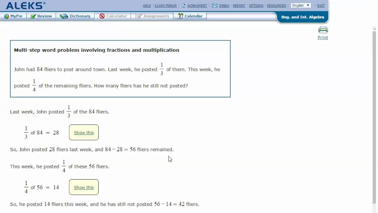 worksheet Multi Step Multiplication Word Problems multi step word problem involving fractions and multiplication multiplication
