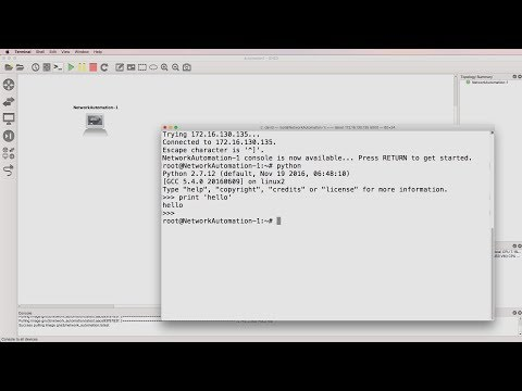 GNS3 Talks: Network Automation Docker Container (Part 1