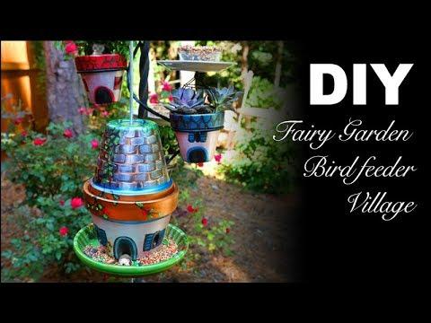 DIY | Fairy Garden Bird Feeder Village