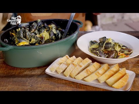 How to make Asian style Mussels in coconut milk - Big Green Egg