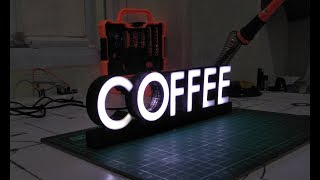 3d printed led coffee table