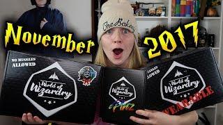 Harry Potter - World Of Wizardry Unboxing - November 2017 | Wearable & Pinz | Geek Gear
