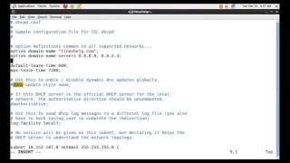 Configure dhcp server in Centos 6