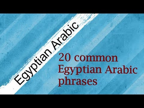 Learn 20 common Egyptian Arabic  phrases/Sentences/Questions (easy to difficult)