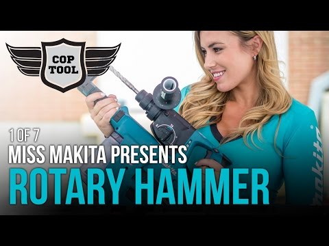 Makita 18V SDSPlus Rotary Hammer & HEPA Vac with Miss Makita 1 of 7