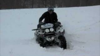 Yamaha grizzly in snow.m4v квадроцикл в снегу(квадроцикл в снегу atv quad., 2010-02-23T16:57:14.000Z)