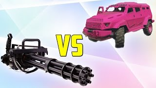 MINIGUN vs COCHES BLINDADOS - GTA V ONLINE