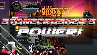 aqw the power of stonecrusher in soloing like really it s strong