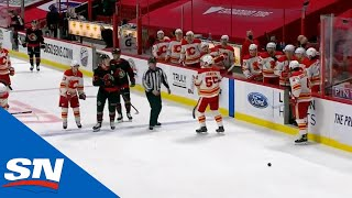 Flames' Rasmus Andersson Won't Let Sens Gather Game-Puck To Celebrate Filip Gustavsson's 1st NHL Win