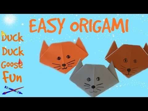Easy Origami Tutorial: How to Make an Easy Origami Cat