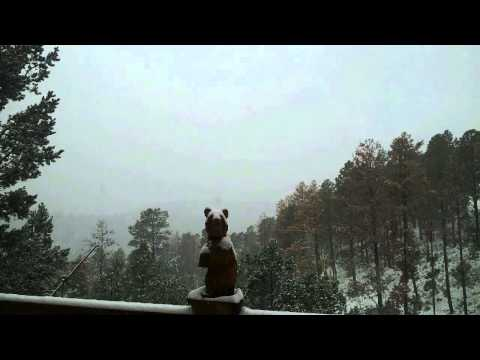 Christmas at Dances with Bears Cabin in Ruidoso, New Mexico